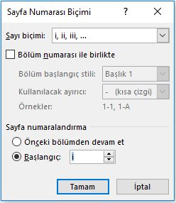 Word De Iki Farkli Formatta Sayfa Numarasi Verme Isa Bingol